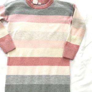 Gap Kids Girls Sweater Dress Striped 4/5